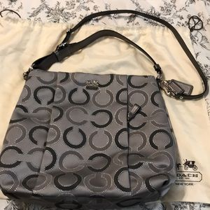 Gorgeous like new gray and silver Coach bag